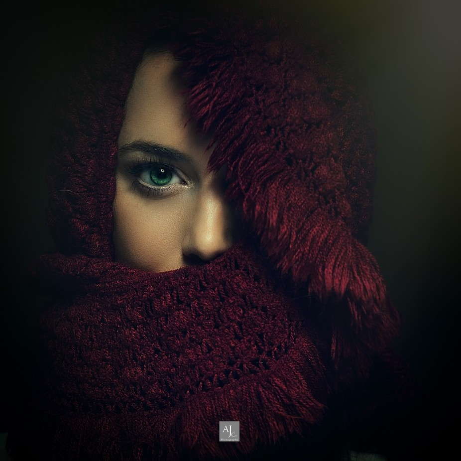 Geeorgia Red Scarf by laansanh - Dark Portraits Photo Contest