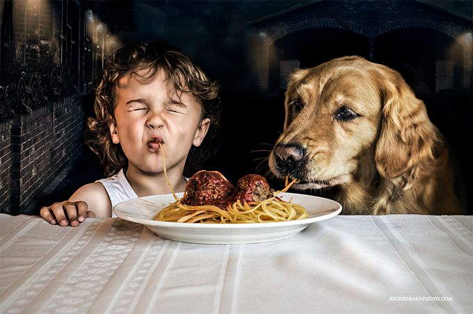 Lady & The Tramp by Bigredbarnphoto - Kids With Props Photo Contest