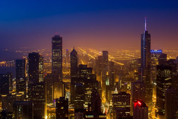 Chicago Sunrise by Mike_M_Martin - City In The Night Photo Contest