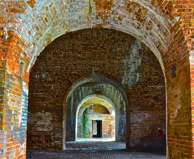 Fort Morgan Arches 1 by judycormeny - Classical Architecture Photo Contest