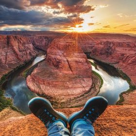 Relaxing on Horseshoe Bend