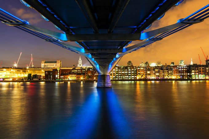 Underneath the Millennium Bridge by KarenCohen - Under The Bridge Photo Contest