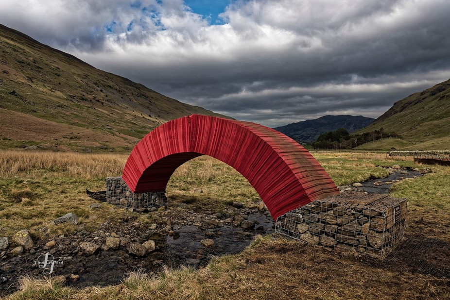 20,000 sheets of paper no glue or fixings it stood for 10 days as part of a Lake District arts festival