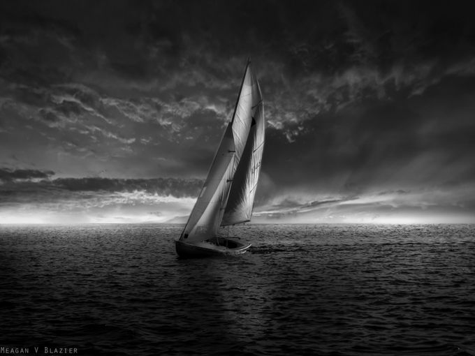The Final Sail  by meaganvblazier - A Black And White World Photo Contest