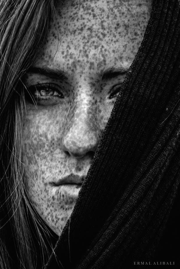 Freckles Beauty by Ermal - Dark Portraits Photo Contest