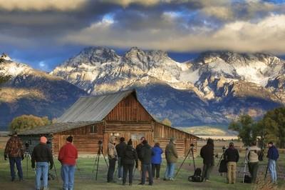 Photographers at Mormon Row Cabin