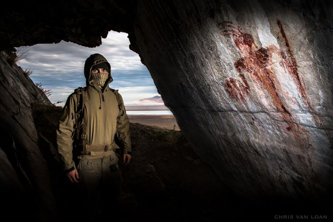 Ancient Pictograph / Self Portrait  by ChrisVanLoan - Pushing Limits Photo Contest