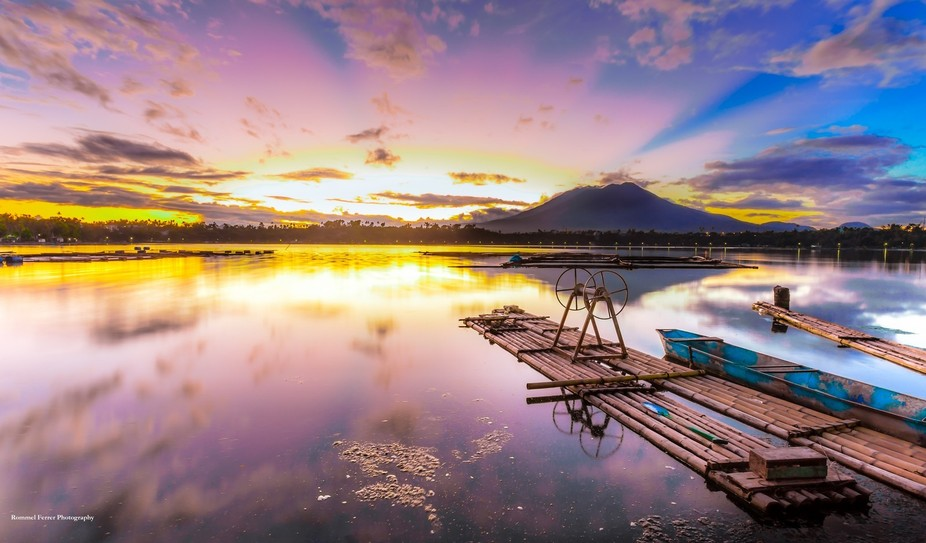 Sampaloc Lake - the largest of the seven lakes of San Pablo Laguna, Philippines.