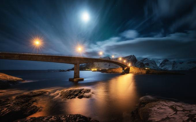 Reine-Moon-1 by stianklo - Under The Bridge Photo Contest