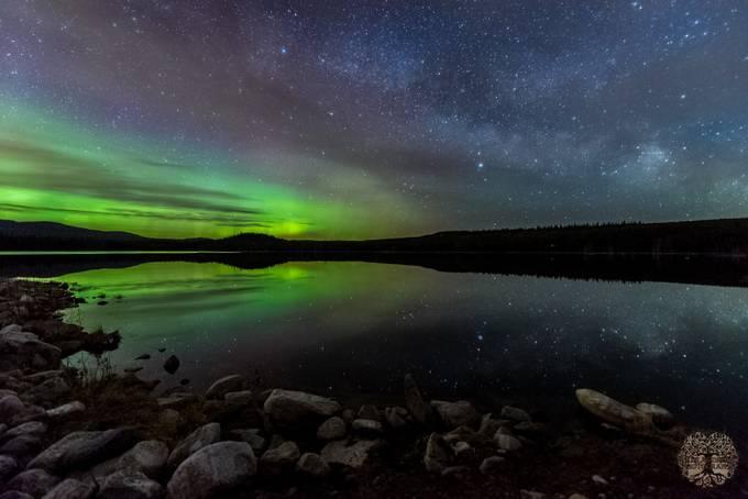 MIlky way over Aurora  by douglasdrouin - Dark And Bright Photo Contest
