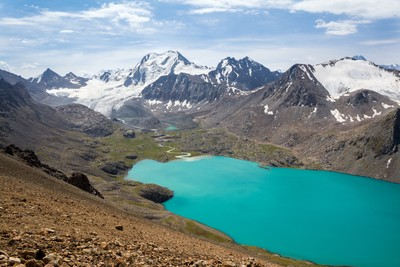 Ala-kul lake in Kyrgyzstan