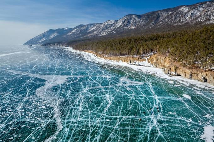 Frozen water of lake Baikal by EvgenyDubinchuk - Unforgettable Landscapes Photo Contest by Zenfolio