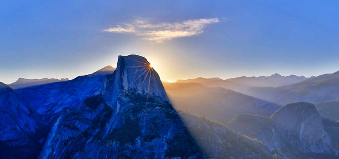 Half Dome Morning Burst by chrisholcroft - Blue Skies Photo Contest