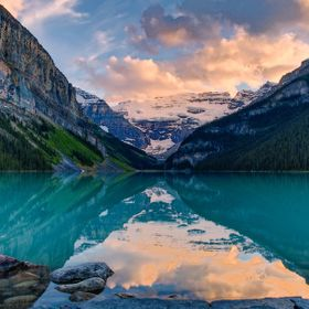 Lake Louise Sunset, AB, Canada