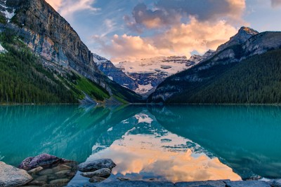 Lake Louise Sunset, AB, Canada