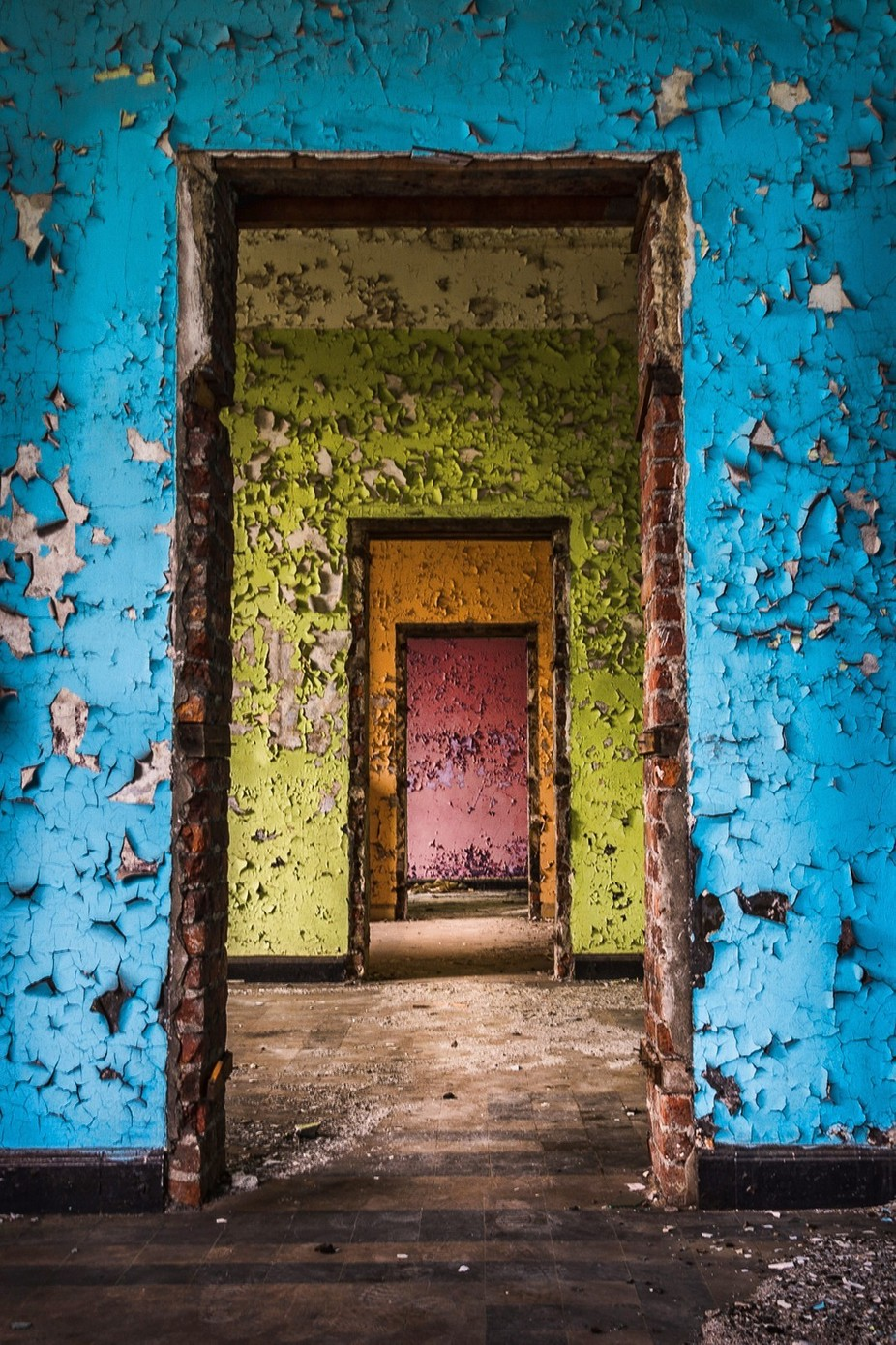 Prison 11 Doors by stefgoovaerts - Color Theory Photo Contest