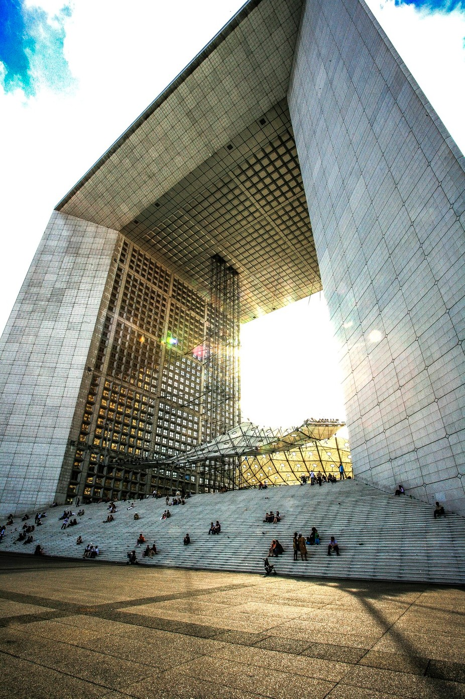 Grande Arche de la Defense by ronsmith - Stairways Photo Contest