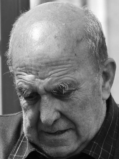 Talkative old man at the Barbican
