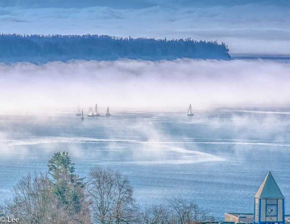 taken from my deck as mornig fog breaks uo
