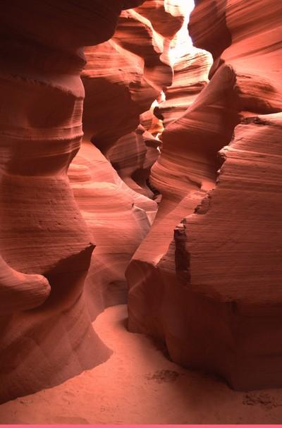 Narrow walkway in Canyon