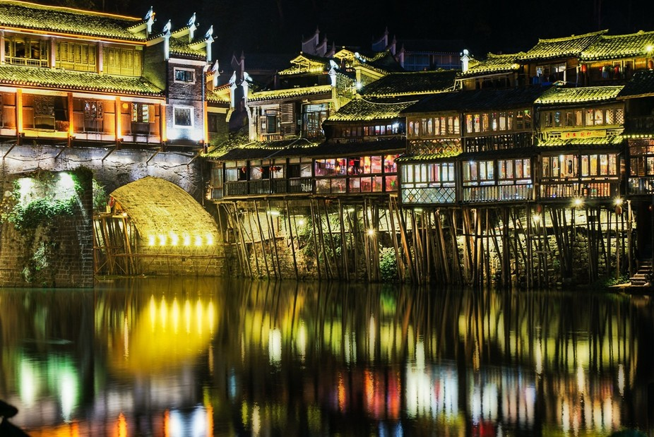 Fenghuang, China. Simply stunning.