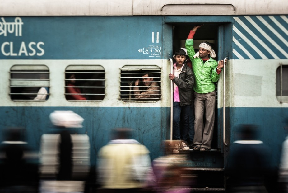 Constant clatter and clutter of the trains rushing through the expanse that is India