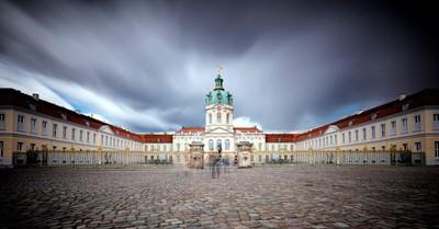 long exposure shot, entrance of the Schloss Charlottenburg, Berlin