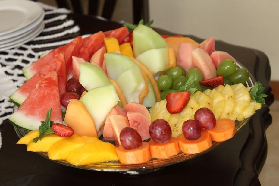 Breakfast fruit platter!