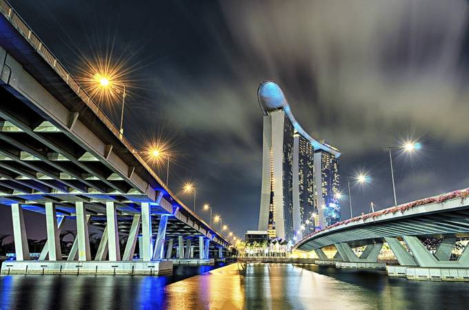 Marina Bay Sands, Singapore by Helen_Mountaniol - Under The Bridge Photo Contest