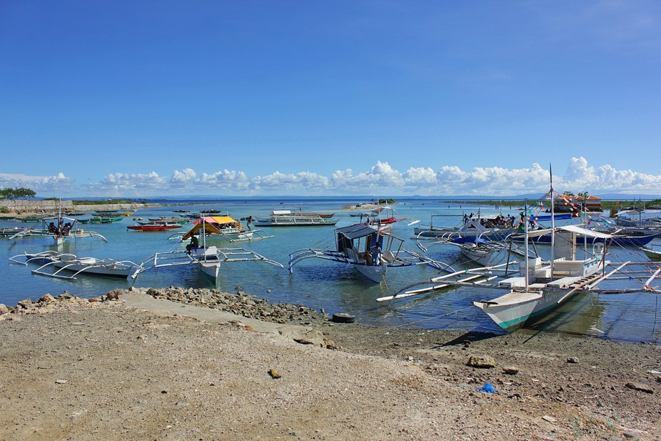 """Local """"Bangka"""" Boat is very popular in the Philippines. """"Bangka"""" is use for I..."""