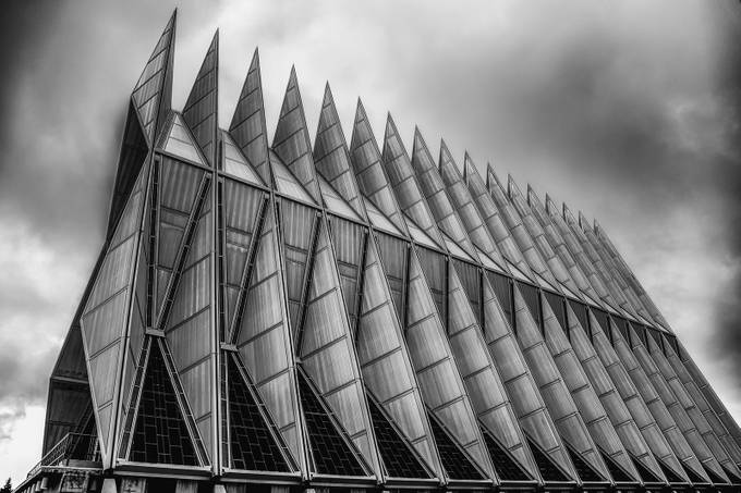 The Chapel by lensvoodoo - Structures in Black and White Photo Contest