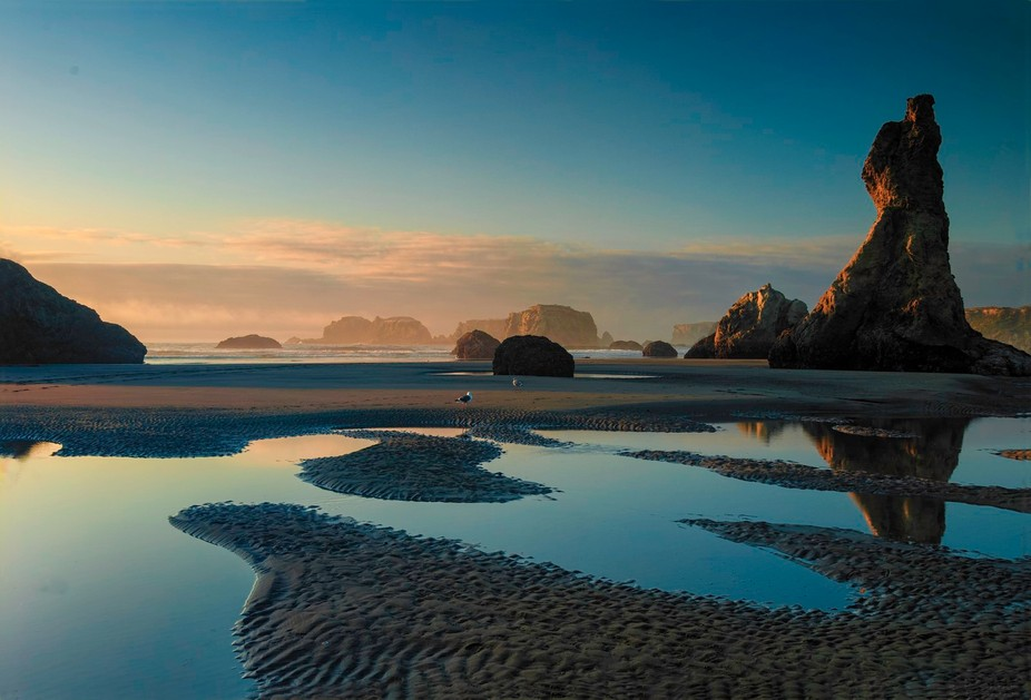 This is one of my favorite shots of Bandon Beach, Oregon.  It\'s one of my favorite places to visi...