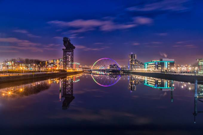 Glasgow At Night by rossglasgow - City In The Night Photo Contest