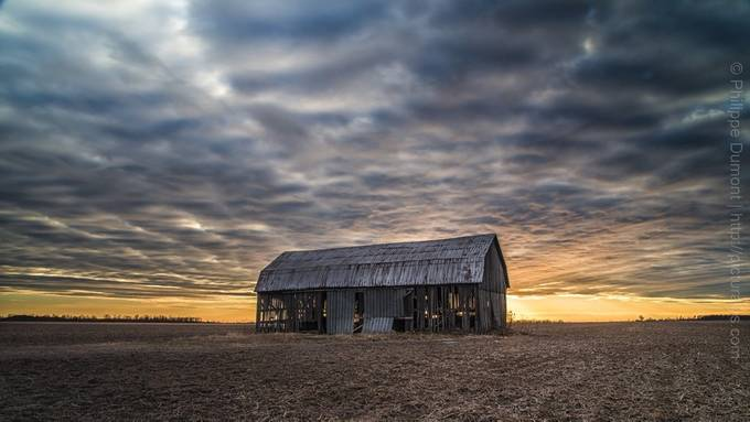 Sunset on the barn by picturalys - Farming Photo Contest