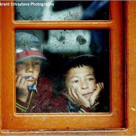 I captured this while setting a school library & playgrounds for school kids at Khaltsey village in Leh. These kids eyes has all the wish as ...