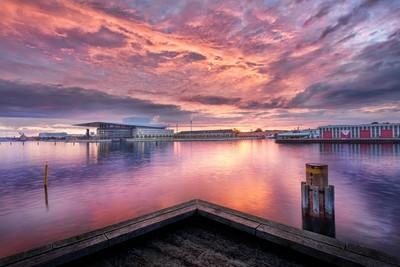 Denmark - Operahouse in purple sunrise