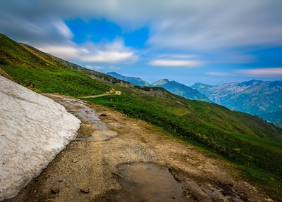 Slippery when wet - Mule Path through the Pyrenees