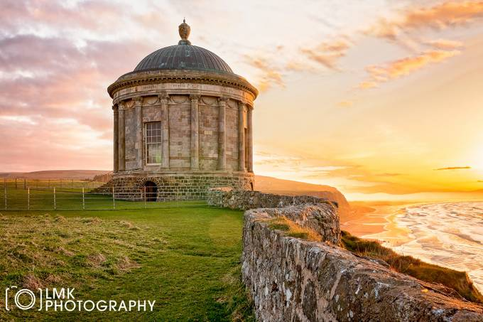 Mussenden Temple sunset by LMK_Photography - Classical Architecture Photo Contest
