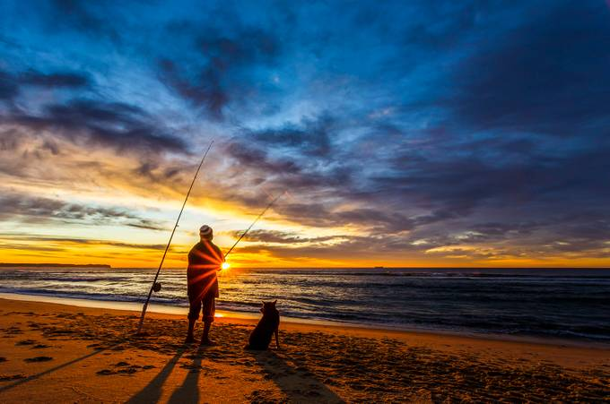 Fishing with my Best Friend by MickLoxleyPhotography - Sun Flares Photo Contest