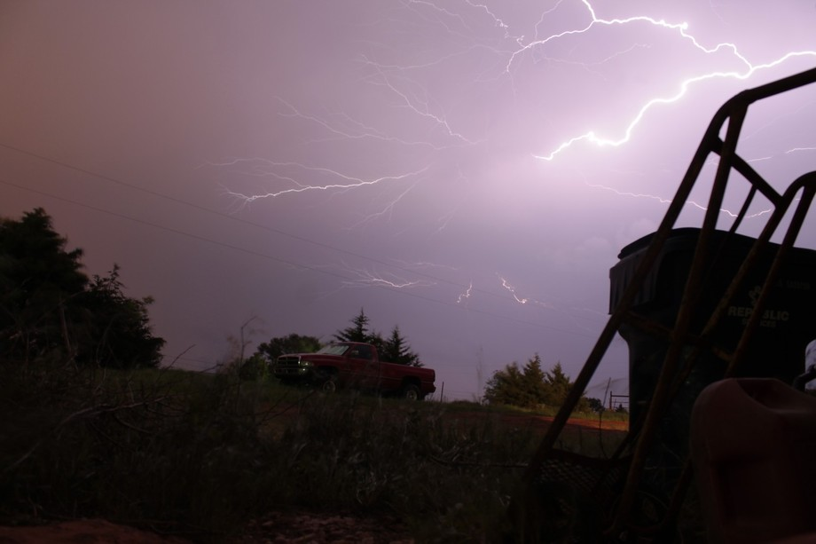 I was living with a friend when a thunderstorm came. I was experimenting with long exposures and ...
