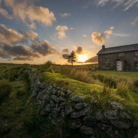 Abandoned farm in Dartmoor. Nuns Cross Farm.