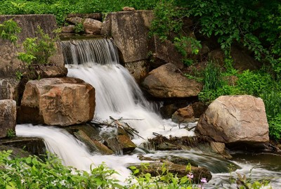 Small Waterfall at the Old Mill