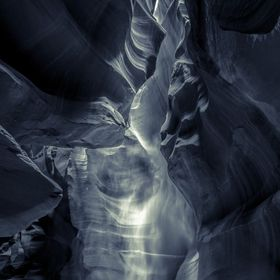 A phantom appears in Antelope Canyon, Page , Arizona