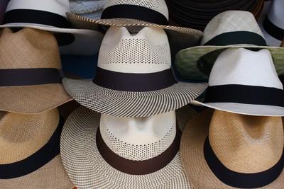 Patterned Panama Hats