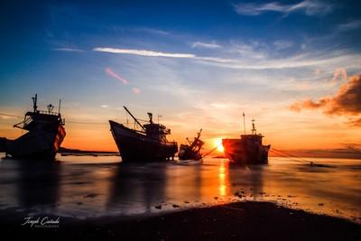 Ships Under The Sunrise