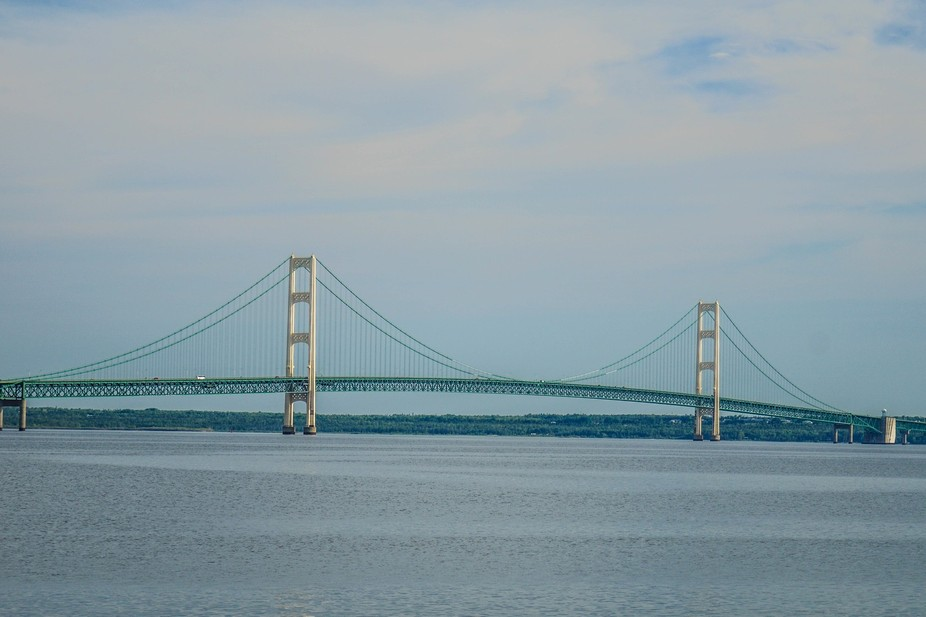 """Michigans famous bridge """"The Mackinaw Bridge"""" connects our lower half of the state to t..."""