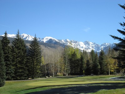 Rocky Mountains From Vail Golf Course