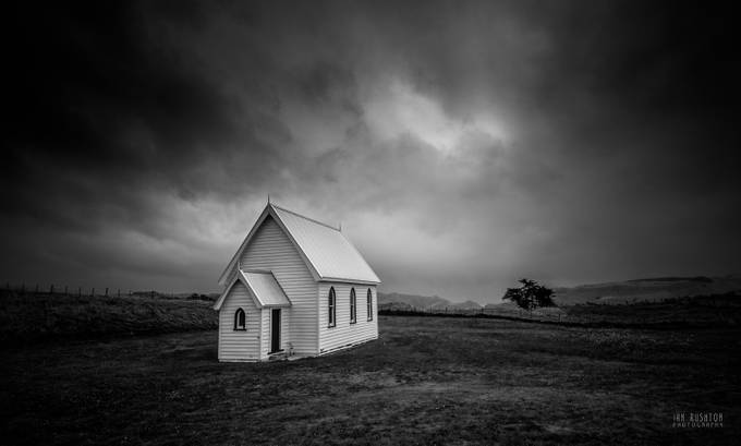 Kohekohe Church by ianrushton - Everything In Black And White Photo Contest