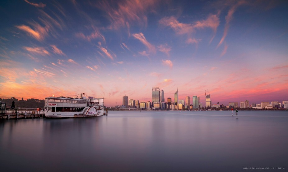 This is the wonderful city of Perth where i live. I was greeted by a beautiful sunset this aftern...