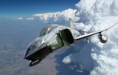 F4 Phantom Against Thunderstorms